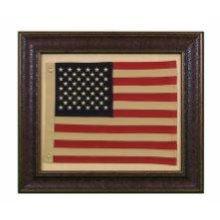 Small American Flag W/Matt