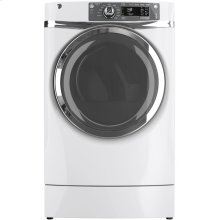 GE® 8.3 cu. ft. capacity RightHeight Design Front Load gas dryer with steam