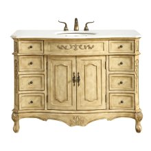 48 in. Single Bathroom Vanity set in Antique Beige