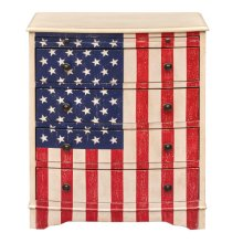 American Flag Drawer Chest