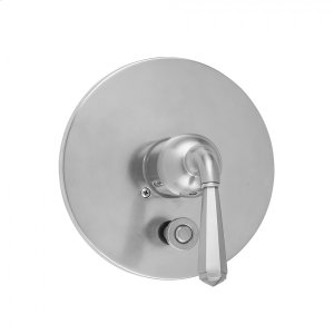 Antique Brass - Round Plate With Hex Lever Trim For Pressure Balance Valve With Built-in Diverter (J-DIV-PBV) Product Image