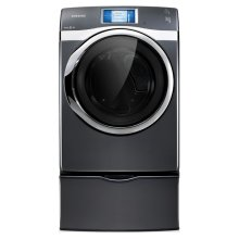 7.5 cu. ft. King-size Capacity, Electric Touch Screen LCD Front-Load Dryer (Onyx).  Sold only as a set (This is a Stock Photo, actual unit (s) appearance may contain cosmetic blemishes. Please call store if you would like actual pictures). This unit carries our 6 month warranty, MANUFACTURER WARRANTY and REBATE NOT VALID with this item. ISI 34253