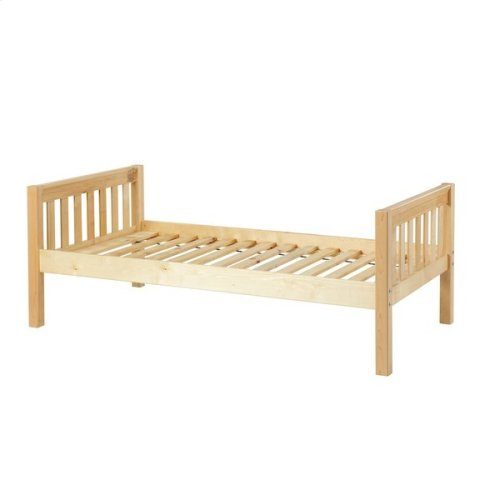 Basic Bed (Low/Low) : Twin : Natural : Slat