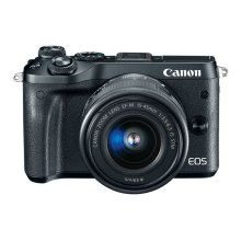 Canon EOS M6 EF-M 15-45mm f/3.5-6.3 IS STM Lens Kit Black EOS M Series Digital Cameras