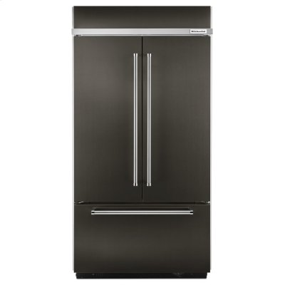 """24.2 Cu. Ft. 42"""" Width Built-In Stainless French Door Refrigerator with Platinum Interior Design - Black Stainless Steel with PrintShield™ Finish Product Image"""
