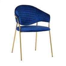 Cay Navy Velvet Chair (Set of 2)