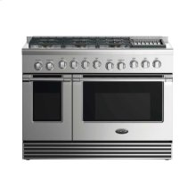 "48"" Gas Range: 6 Burners With Grill"