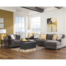 Signature Design by Ashley Hodan Living Room Set in Marble Microfiber