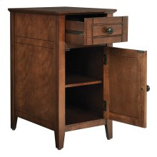 Brooke Chair Side Table In Chestnut Finish, Fully Assembled