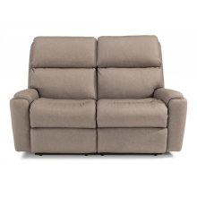 Rio Fabric Power Reclining Console Loveseat with Power Headrest (Item Available without Console-As Pictured)
