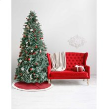 "Home for the Holiday Qy410 Red 4'4"" X Round Tree Skirt"