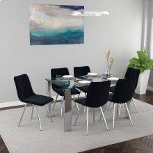 Frankfurt/Marlo 7pc Dining Set, Black