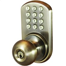 Touchpad Electronic Doorknob (Antique Brass)