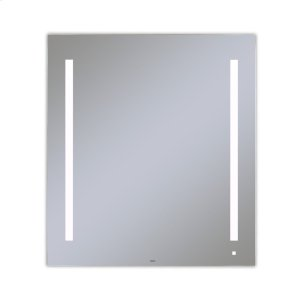 """Aio 35-1/8"""" X 39-1/4"""" X 1-1/2"""" Lighted Mirror With Lum Lighting At 4000 Kelvin Temperature (cool Light), Dimmable, Usb Charging Ports and Om Audio Product Image"""
