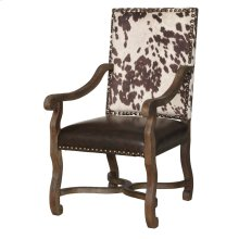 Mesquite Ranch Leather and Faux Cowhide Armchair