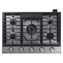 """36"""" Chef Collection Gas Cooktop with 22K BTU Dual Power Burner in Stainless Steel"""