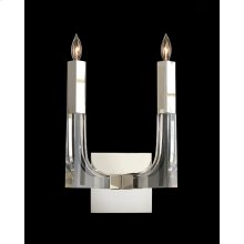 Acrylic and Nickel Two-Light Wall Sconce