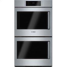 Benchmark® Double Wall Oven 30'' Stainless steel, Door hinge: Left HBLP651LUC