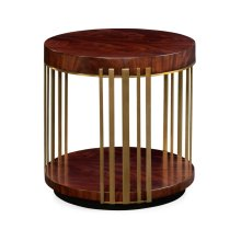 Round Antique Mahogany End Table