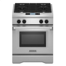 KitchenAid® 30-Inch 4-Burner with Steam-Assist Oven, Dual Fuel Freestanding Range, Commercial-Style - Stainless Steel