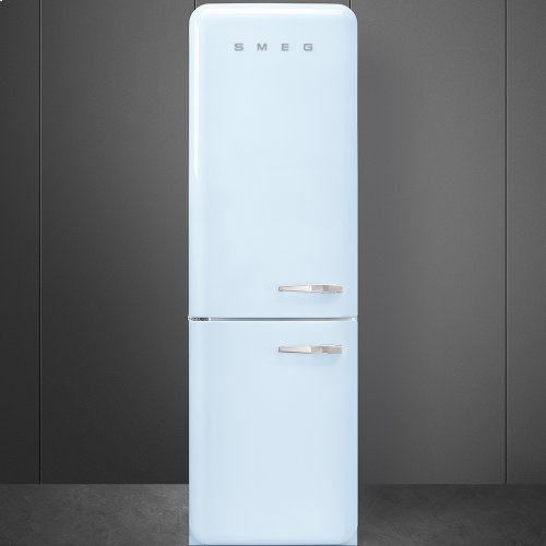 "Approx 24"" 50'S Style refrigerator with automatic freezer, Pastel blue, Left hand hinge"