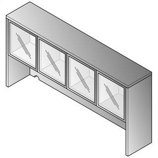 "Discontinued - Overhead Storage 2/ctns-glass Doors 71""x15""x36"""