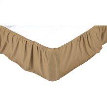 Solid Khaki Twin Bed Skirt 39x76x16