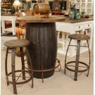 Barrel Bar Table Medio Finish Product Image