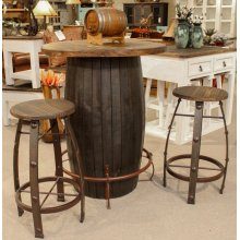 Barrel Barstool Medio Finish