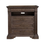 Bedford Heights 4 Drawer Media Chest in Estate Brown Product Image
