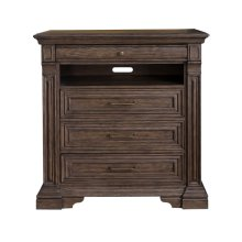 Bedford Heights 4 Drawer Media Chest in Estate Brown