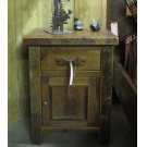Barnwood Nightstand 1 Drawer with Door Product Image