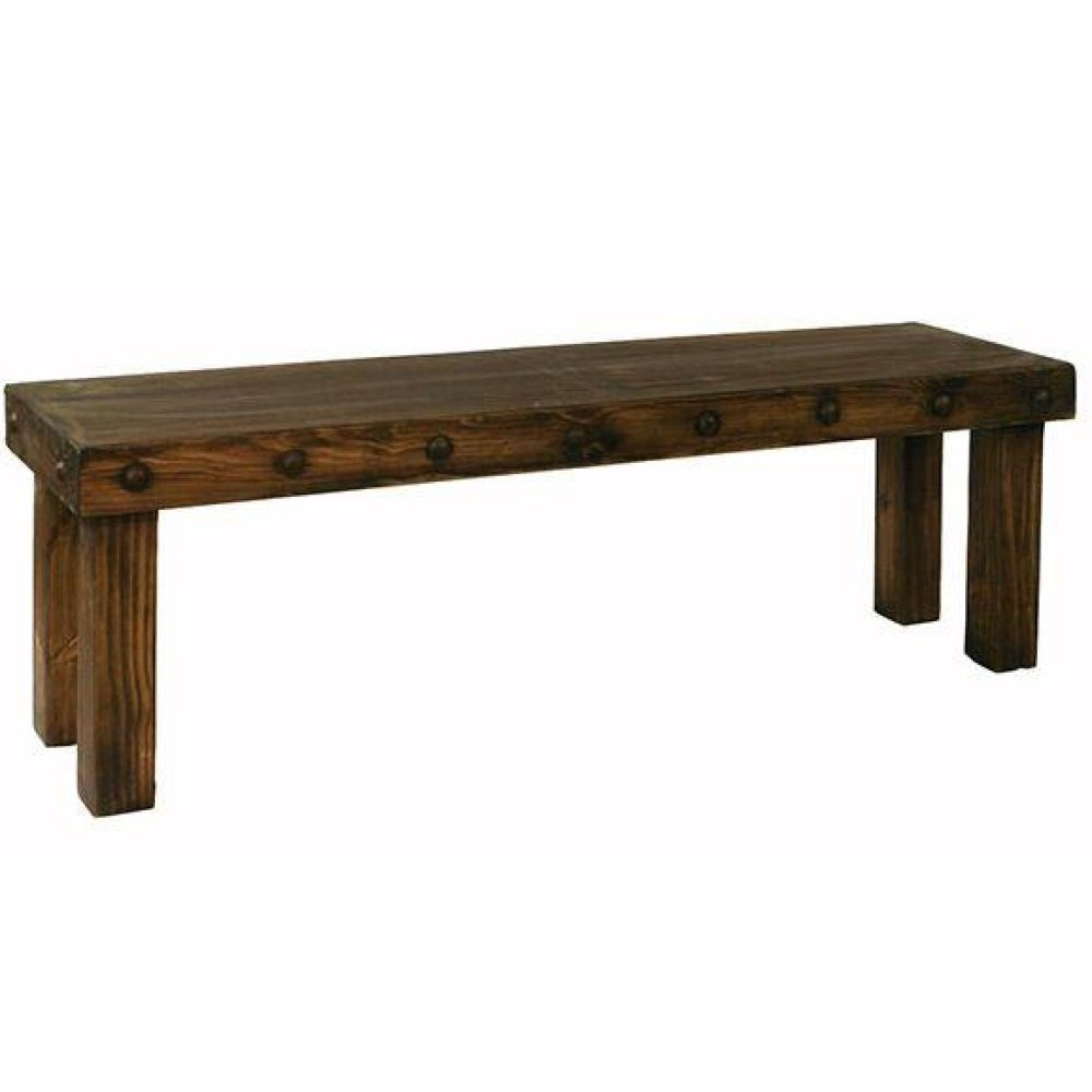 4' Laguna Bench W/Wood Seat
