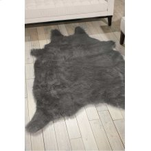 Fur Fl101 Silver Grey 5' X 7' Throw Blanket