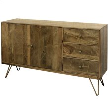 Sebastian  56in X 16in X 35in  Two Door Three Drawer Credenza