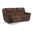 New Town Fabric Power Reclining Loveseat with Console and Power Headrests Product Image