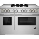 """RISE™ 48"""" Dual-Fuel Professional Range with Dual Chrome-Infused Griddles, RISE Product Image"""