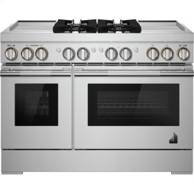 """RISE™ 48"""" Dual-Fuel Professional Range with Dual Chrome-Infused Griddles, RISE"""