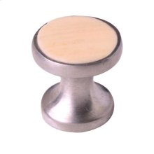 Satin Pewter & Cattle Bone Cabinet Knob - 022