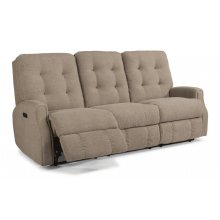 Devon Leather Power Reclining Sofa with Power Headrests and without Nailhead Trim