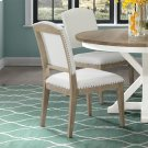 Myra - Upholstered Side Chair - Natural Finish Product Image