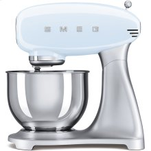 Smeg 50s Retro Style Design Aesthetic Stand Mixer, Pastel Blue
