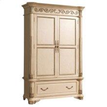 Sienna Antique White Armoire - 54''L x 24''D x 83''H