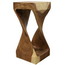 Natural  12in X 26in X 12in Natural Sculptural Sugar Wood Stool