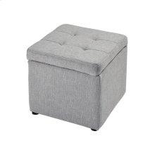 Mckenna Grey Linen Ottoman