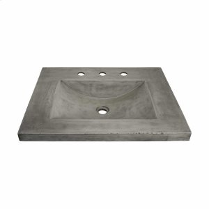 """24"""" Palomar Vanity Top with Integral Sink in Ash Product Image"""