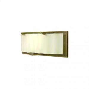 Plank Sconce - Corrugated Glass - WS445 Silicon Bronze Brushed Product Image
