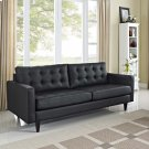Empress Bonded Leather Sofa in Black Product Image