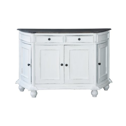 CC-CAB220TLD-WWRW  Angled Console Cabinet  White  Raftwood