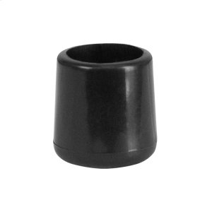 Black Replacement Foot Cap for Plastic Folding Chairs Product Image